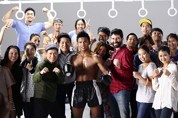 "UN Women-produced PSA ""Active bystander"", starring famous Muaythai boxer Buakaw Banchamek, encourages young people to take action on ending violence against women and girls in Thailand. Photo: Saatchi & Saatchi Thailand."