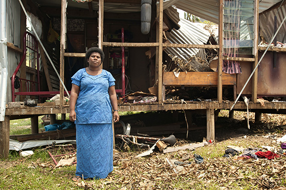 The Paris Agreement on Climate Change includes a pivotal reference to women's empowerment. Women like Salote Tubuna in Fiji, whose house was destroyed during cyclone Pam, have been able to count on UN Women's support. Photo: UN Women/Murray Lloyd