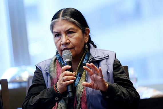 Tarcila Rivera Zea, Director of CHIRAPAQ, is one of the 150 women's rights advocates, members of UN Women's Civil Society Advisory Groups from around the world, who gathered in New York to discuss strategies for reaching a Planet 50-50 by 2030 at the Global Civil Society Dialogue, November 2015. Photo: UN Women/Ryan Brown