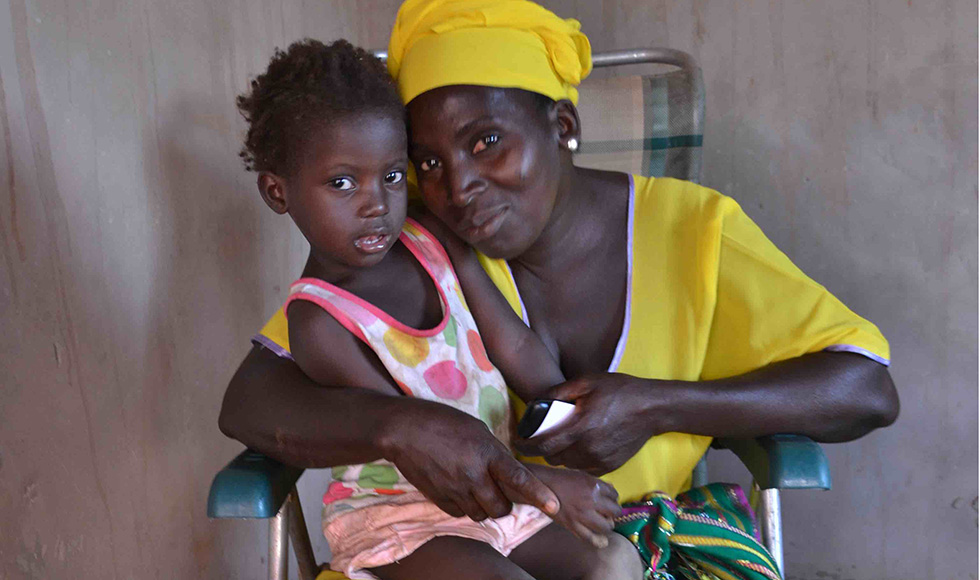 A woman and child in Gambia