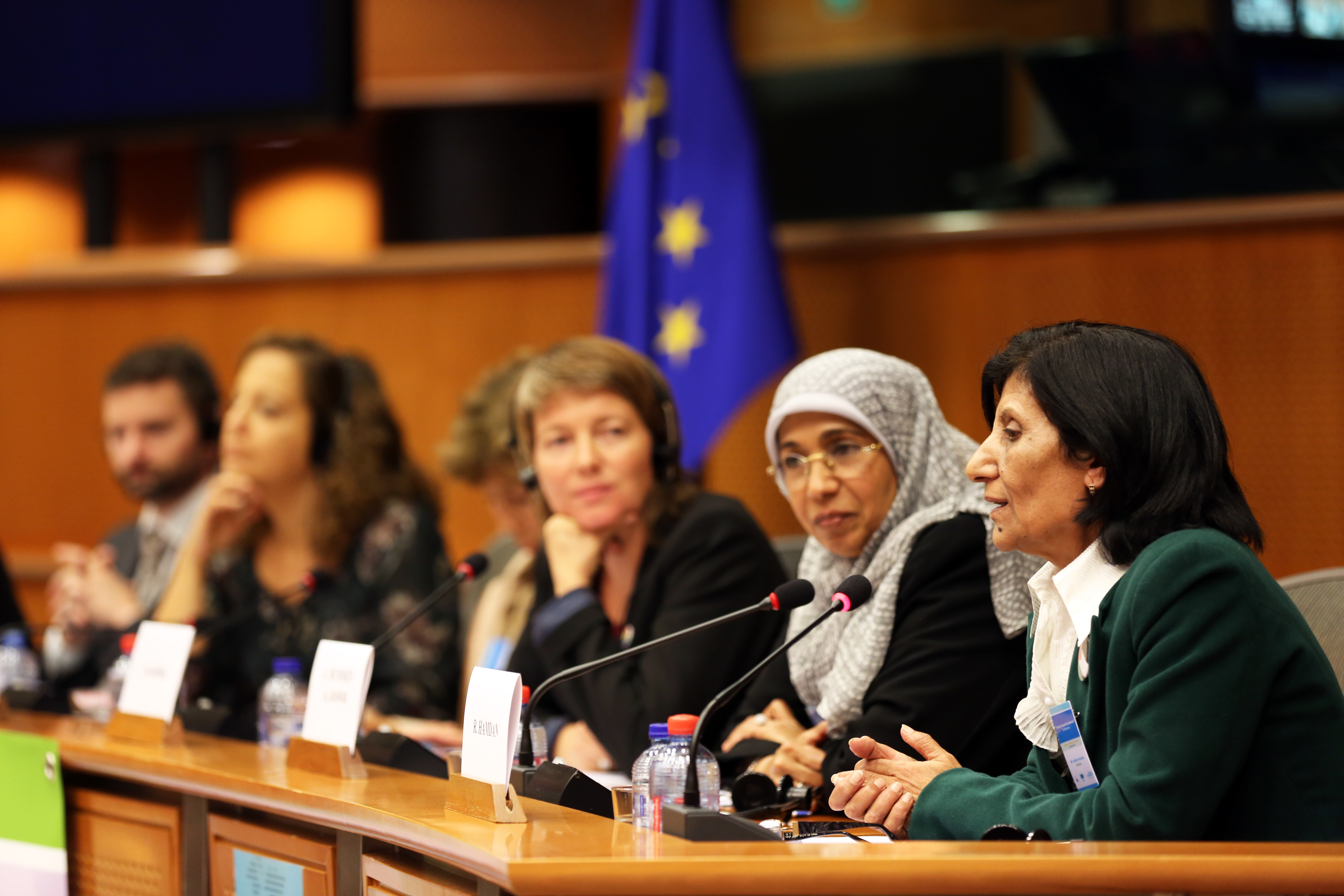 Arab Parliamentarians and Members of the European Parliament at a conference on the EU-UN Women Spring Forward for Women programme. Brussels 2015. Photo: UN Women/Emad Karim