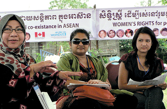 Women at an ASEAN conference. In 2015, ASEAN adopted the first regional action plan on ending violence against women. Photo: UN Women