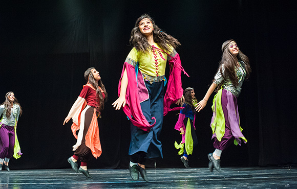 In Ramallah, 8 March 2015, celebrations of International Women's Day included dance performances among other events. Photo: UN Women/Cindy Thai Thien Nghia