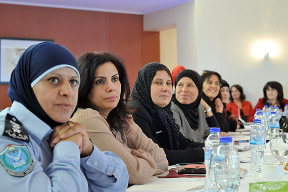 Justice and security institutions, service providers and civil society discuss implications of the establishment of the Specialized Public Prosecution on family protection in the State of Palestine. Photo: UN Women/Cindy Thai Thien Nghia.