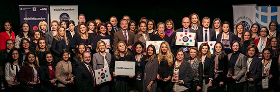 "In Turkey, more than 150 companies signed the Women's Empowerment Principles. Many of these companies' leaders gathered in Istanbul to launch the WEPs Implementation Guide. They sent a powerful message: ""Equality Means Business!"" Photo: Global Compact Turkey/Tolga Sezgin."
