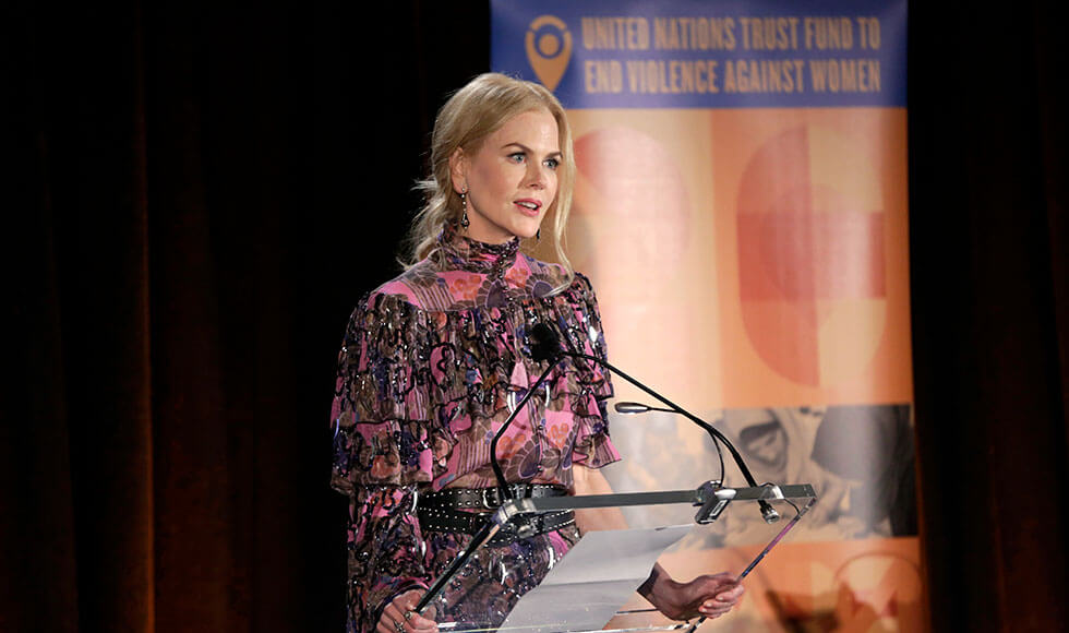 Oscar-winning actress and UN Women Goodwill Ambassador Nicole Kidman co-hosted a gala that celebrated the 20th anniversary of the UN Trust Fund to End Violence against Women and the impact of its grantees' interventions globally. Photo: UN Women/Ryan Brown.