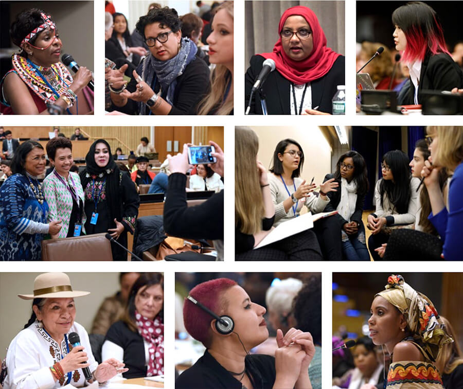 The annual UN Commission on the Status of Women is a chance for women from around the globe to galvanize continued action to achieve gender equality. They come with diverse concerns, from equality in nationality laws to balanced gender portrayals in the media, from more equitable economies to parity in politics. But their overall goal is the same: a world where all women are empowered, and gender equality is the norm everywhere, not the exception. Photos: UN Women/Ryan Brown and Susan Markisz.