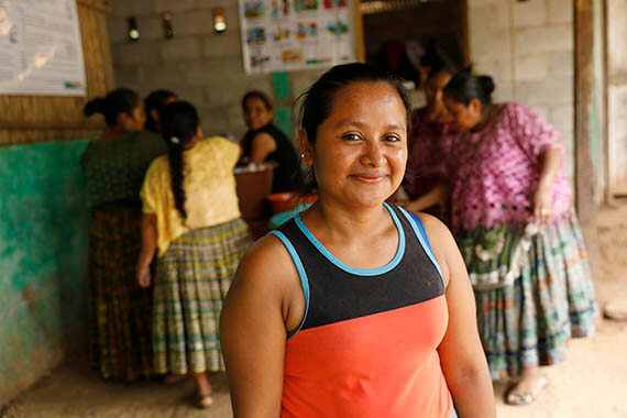 Like many rural women, Olga Macz once struggled to overcome severe poverty coupled with pervasive gender discrimination. Today, she has more income, more hope and more skills to claim her rights. Through a joint UN programme, she has become one of 1,600 women who have set up successful small businesses in a marginalized region of Guatemala. Photo: UN Women/Ryan Brown.
