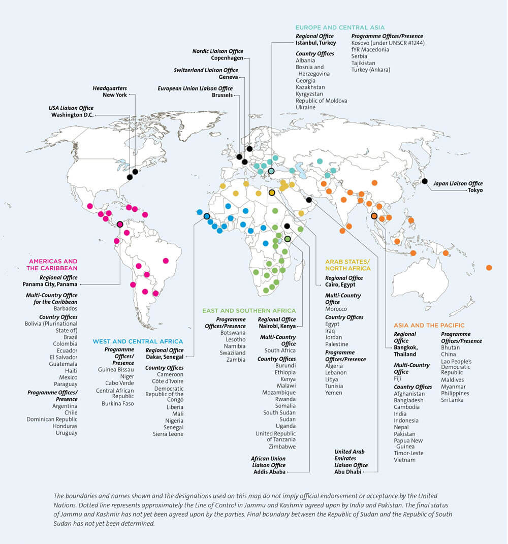 Map: UN Women in the world