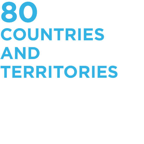 80 countries and territories