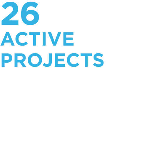 26 active projects