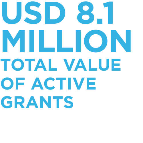 USD 8.1 million total value of active grants