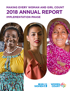 Making Every Woman and Girl Count: 2018 annual report: Implementation phase