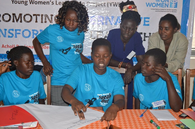 Section of some of the girls during the training conducted in Soroti. Photo: UN Women