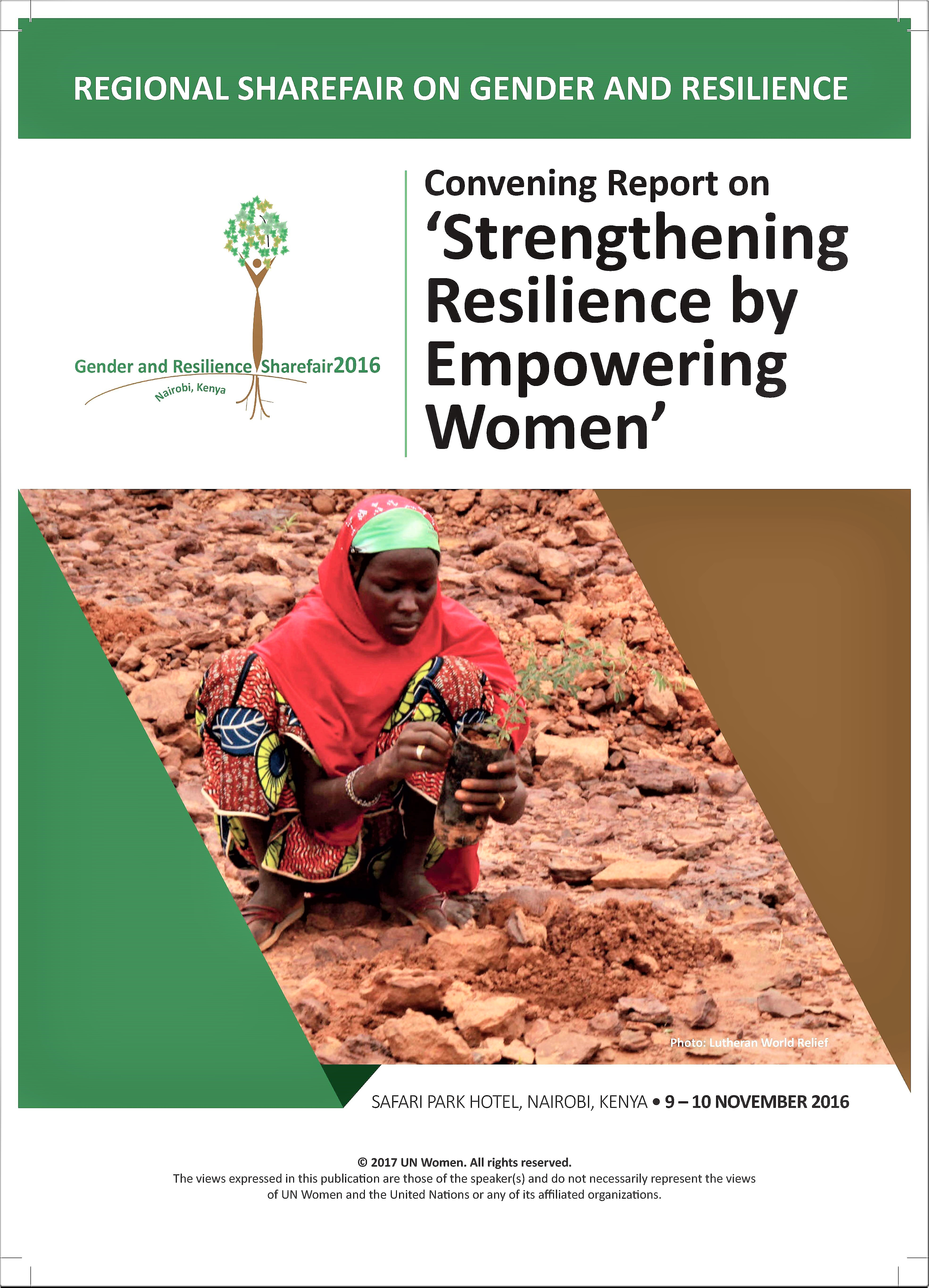 Regional Sharefair on Gender and Resilience in Africa 2016 Report
