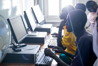 A computer lab supported by UN Women and run by the Community Empowerment Progress Organization (CEPO).