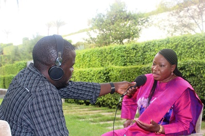 Interview with Fatou Bensouda, Chief Prosecutor of the International Criminal Court. (Phot credit : West Africa Democracy Radio )
