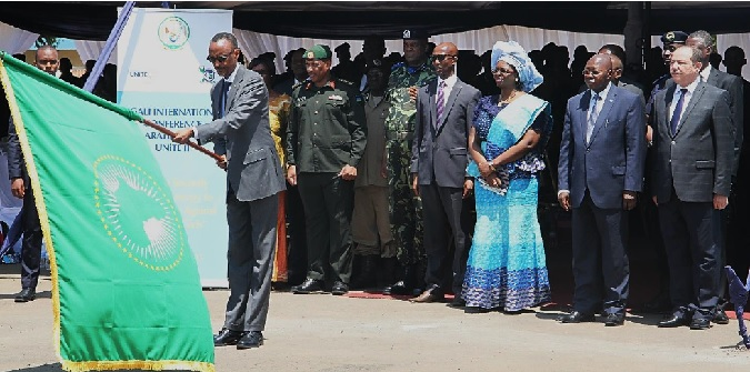 Figure 1H.E. President Paul Kagame flagging off the CPX practical training. Photo credit: Christian T. Mulumba/UN Women