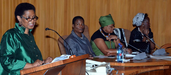 The ED at the Africa Regional Conference of the South African Chapter of the International Association of Women Judges