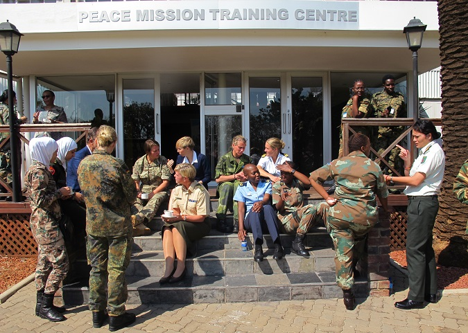 Peace keeping training for female officers