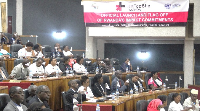 Rwanda Parliament plenary room hosting the official launch of the HeForShe Campaign. Photo credit: Christian T. Mulumba/UN Women
