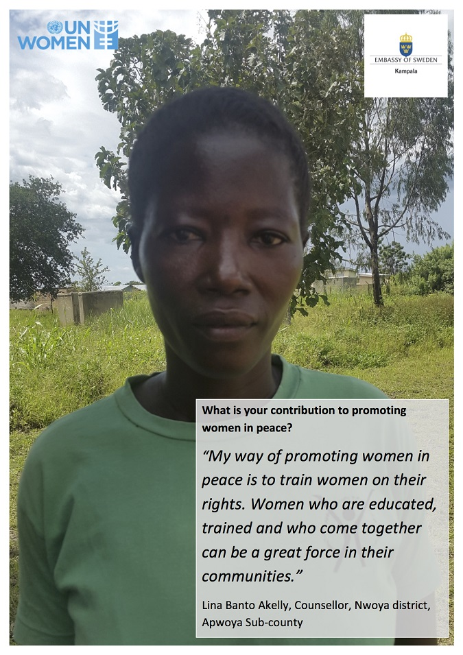 Line Nwoya's contribution to promoting women in peace in Uganda