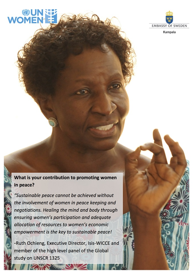 Ruth Ochieng's contribution to promote women in peace in Uganda