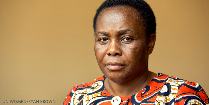 "In the words of Julienne Lusenge: ""Women are the first victims of war"" in the Democratic Republic of the Congo"