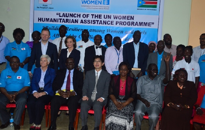 The Government of Japan supports Gender Equality and the Empowerment of Women in South Sudan