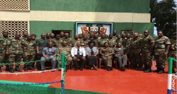 Family photo a ten day training for 40 RSLAF officers  in Sierra Leone