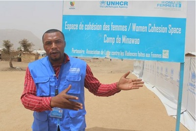 Jimmy Henry NYINGCHO, UNV at the service of female refugees at the Minawao refugee camp in Maroua