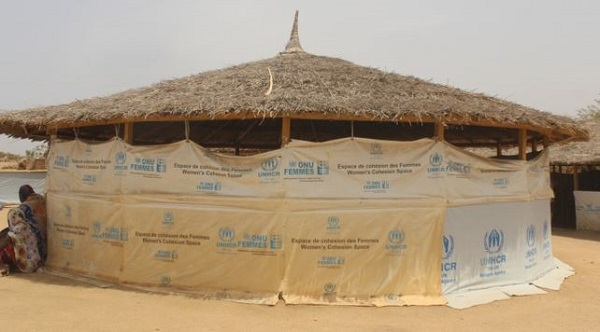Social Cohesion Space put in place by UN Women at the Minawao refugee camp in Maroua