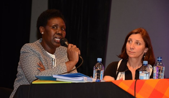 UN Women Regional Director for Africa, Ms. Diana Ofwona, as a panelist during the Gender Forum for gender parity in Science, Technology, Engineering and Mathematics (STEM).