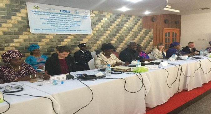At the African Women's Leadership conference in Sierra Leone, President Koroma assures women of 30% quota by end of office.