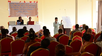 Ms. Firehiwot Abebaw, Public Prosecutor, Bahir Dar, presenting the outcomes of the group discussions