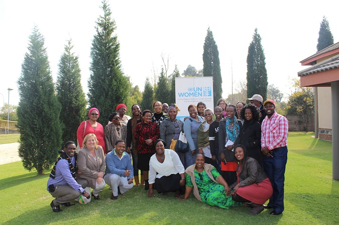 Participants of a workshop hosted by UN Women SAMCO