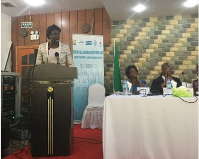 The minister of Social Welfare, Gender and Children's Affairs, Dr. Sylvia Olayinka Blyden