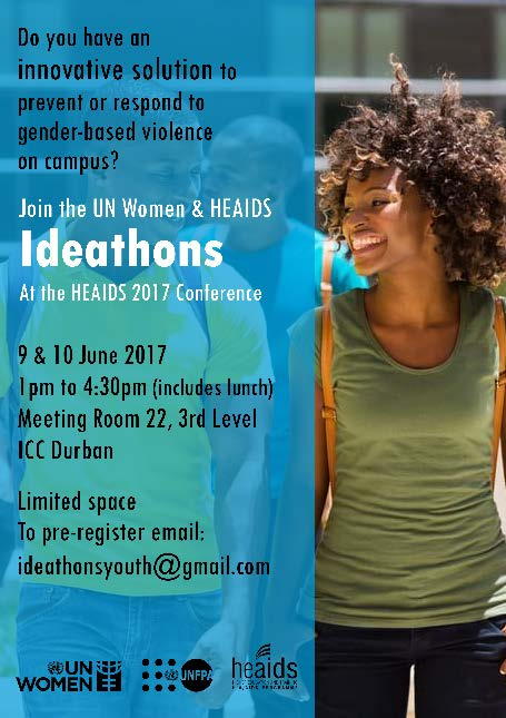 Youth tasked with creating innovative solutions to prevent gender based violence on campus at heaids conference