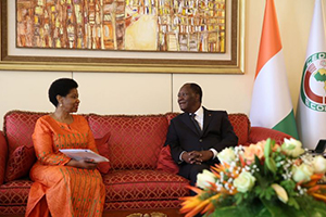 The President of Cote d'Ivoire officially a HeForShe advocate
