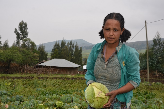 Birtukan Fikadu, one of the beneficiaries of the UN Women in Oromia Ethiopia