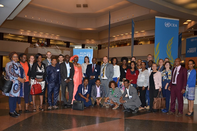 Participants of the intergovernmental workshop organized in August 2017 at the UNECA