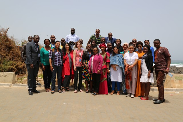 Group photo of attendees at the UN Women Africa regional communications workshop in Dakar, Senegal