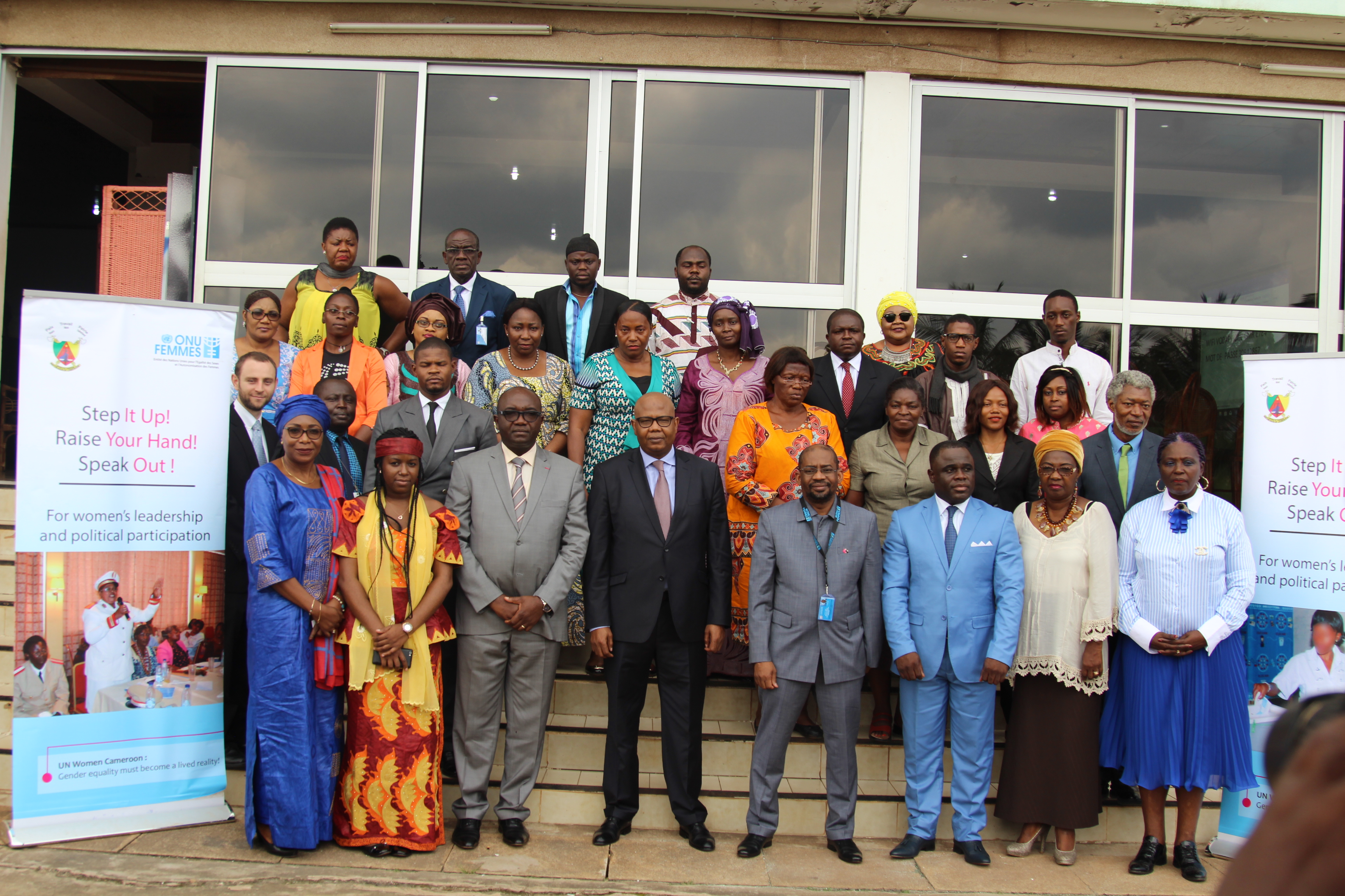 Representatives of UN agencies, leaders of political parties and other elections stakeholders attending the seminar. Photo credit; Teclaire Same, UN women