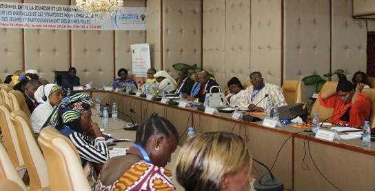 A cross section of youths and members of the National Assembly attending the intergenerational dialogue. Photo credit, Teclaire Same, UN Women Cameroon.