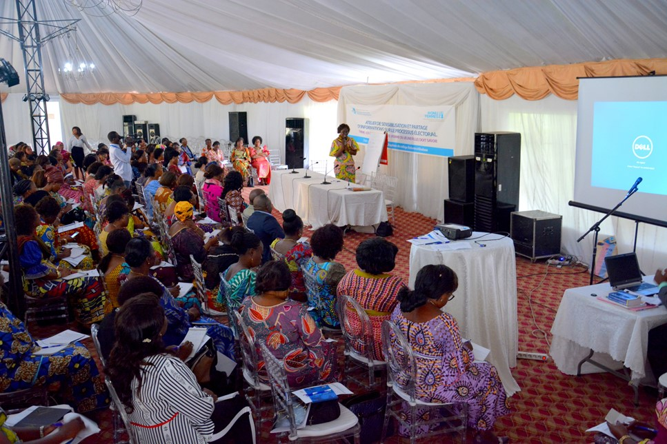 Day 1 Training session for women in the electoral process.