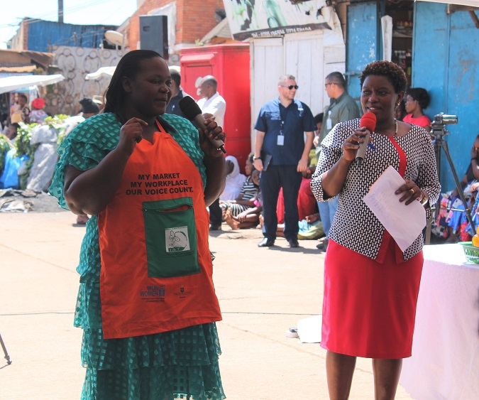 One of the market entrepreneurs shares her experience during a past event. Photo: UN Women/ Aidah Nanyonjo