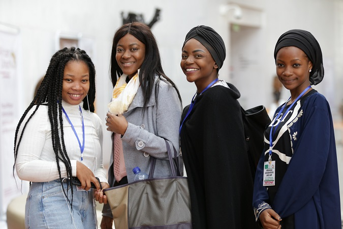 Participants pose for a photo after visiting the Ministry of Science and Technology in Addis Ababa, Ethiopia. Photo: UN Women Africa