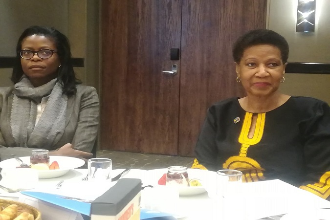UN Women Executive Director Phumzile Mlambo-Ngcuka at the Women's Empowerment Principles (WEP) event in Johannesburg. Photo UN Women/Puleng Charity Mkhatshwa