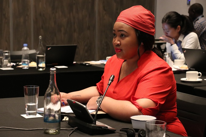 Princess Sekhothali Seeiso from the Kingdom of Lesotho during the meeting held in Nairobi, Kenya. Photo: UN Women/ Faith Bwibo