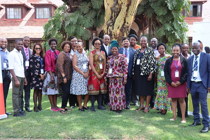 Reference Group Members with UN Women staff at the two day inaugural workshop. Photo: UN Women/ Faith Bwibo
